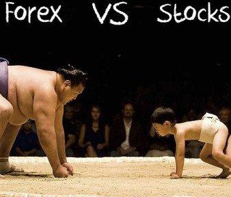 Форекс против фондового рынка